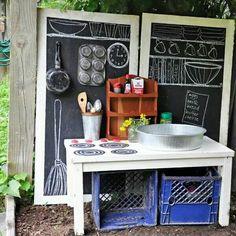 outdoor kitchen for kids