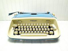 Vintage Typewriter Royal Safari Robins Egg by GoodBonesVintageCo, $175.00