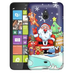 Nokia Lumia 1320 Merry Christmas Santa Claus and Reindeer Slim Case