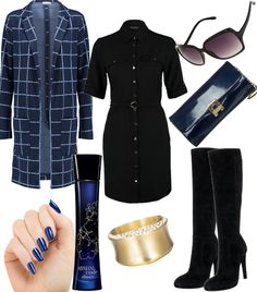 Blue Curve #fashion #style #look #dress #mode #outfit