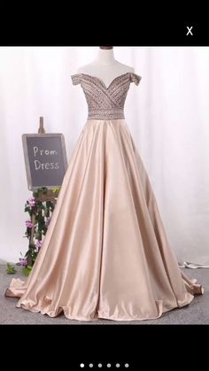 Prom Dress Beautiful, 2019 New Arrival Off The Shoulder Satin A Line Prom Dresses Beaded Bodice, Discover your dream prom dress. Our collection features affordable prom dresses, chiffon prom gowns, sexy formal gowns and more. Find your 2020 prom dress A Line Prom Dresses, Junior Bridesmaid Dresses, Homecoming Dresses, Girls Dresses, Chiffon Dresses, Club Dresses, Fall Dresses, Long Dresses, Rosa Satin