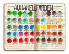 """Ooh! I Am LOVING These """"Color Palette"""" Themed  Art Journal Pages! -- {INSPIRATION FOR ART JOURNAL PAGE!}"""
