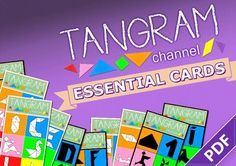 """""""Good mixture of easy and challenging puzzles. Tangram Puzzles, The Fold Line, Challenging Puzzles, Operation Christmas Child, Print Templates, Math Centers, Step By Step Instructions, Diy Cards, Teaching Kids"""