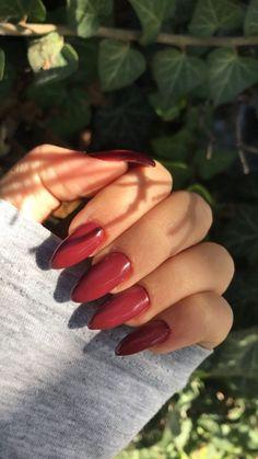 his color but different nail shape ,long nails ,short nails Cranberry nails Summer Acrylic Nails, Cute Acrylic Nails, Acrylic Nail Designs, Cute Nails, Pretty Nails, Metallic Nails, Summer Nails, Pink Nails, Gel Nails