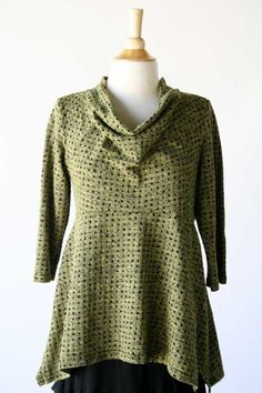 Product Image: Cowl Flared Tee Dots in Women's Clothing by Style: Cut Loose Fall 2013