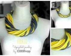 Upcycled HYBRIO Schal-Halskette/Recycled lime von cirrhopp auf Etsy