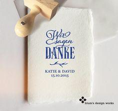 ZWEIG - Danksagungskarten - Hochzeit Stempel f. Danke-Karten u. Gastgeschenke - ein Designerstück von blumsdesign bei DaWanda