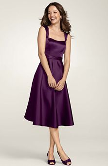 Bridesmaid dress! David's Bridal in color Plum though I prefer Lapis which is a deeper eggplant.