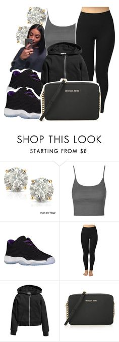 """""""6.23.16"""" by lookatimani ❤ liked on Polyvore featuring Auriya, Topshop and MICHAEL Michael Kors"""