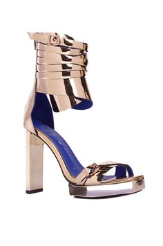 The Jeffrey Campbell Mattea Metal Stiletto Embodies Power and Femininity #summershoes #sandals trendhunter.com