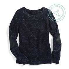 Rub elbows in an elbow-patch sweater! This vintage-inspired detail is subtle & winter-approved. #trendalert