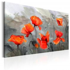 Tableau Poppies (watercolour) - Taille : 80 x Framed Wall Art, Wall Art Prints, Framed Prints, Canvas Prints, Art Floral, Wall Art Pictures, Banksy, Picture Photo, Flower Art