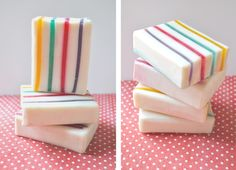Soaps with stripes.