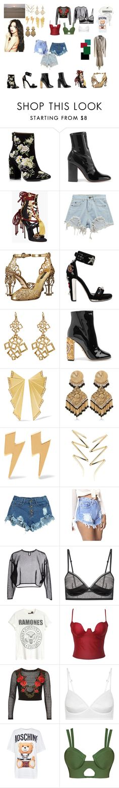 """Hyuna INSPO"" by crispidiamond on Polyvore featuring Miss Selfridge, Valentino, Dsquared2, Chicnova Fashion, Dolce&Gabbana, Alexander McQueen, Amrita Singh, Ileana Makri, Etro and IaM by Ileana Makri"