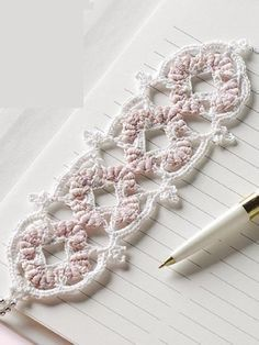 beautiful bookmark - crochet free pattern..Make a cute headband or bracelet also!!