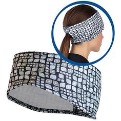 TrailHeads Women's Ponytail Headband - black / black