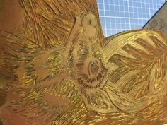 linoleo final Papel Fabriano, Painting, Printmaking, Gold, Paper Envelopes, Painting Art, Paintings, Painted Canvas, Drawings