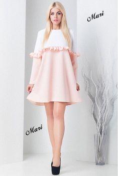 Картинки по запросу расклешенное платье с оборкой