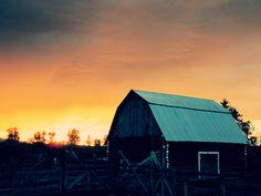 Montana ranch sunset. Summer 2012.