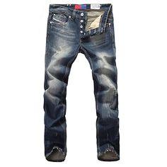 Men s Plus Size Jeans Pants Solid Plaid Cotton Polyester All Seasons 2018 -   28.92 Denim Jeans 753d69f15085c