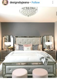 Bedroom Design Ideas – Create Your Own Private Sanctuary Room Ideas Bedroom, Bedroom Sets, Bedroom Decor, Glam Bedroom, Cute Room Decor, Dream Rooms, Luxurious Bedrooms, My New Room, Beautiful Bedrooms