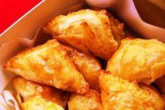 Empanaditas crujientes de pasta filo: con pollo y champis