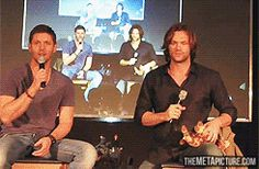 GIF of Supernatural boys catching themselves catching themselves...  LOL.  How in the world was this done?
