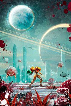 Metroid fanart full view by Ruby--Art on DeviantArt