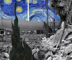 #Street #Art - A Starry Night in Syria (Syrian Museum) by Tammam Azzam