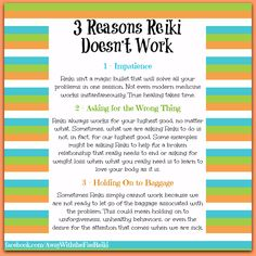 Have you had this experience? What are some of the reasons you've found that Reiki might not work?  #reiki #reikitips #whenreikidoesnotwork
