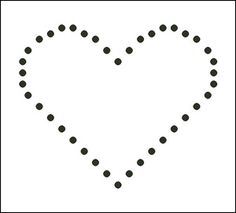 Free Candlewicking Patterns: Small Heart Candlewicking Pattern - Printable Beginner's Candlewicking Chart
