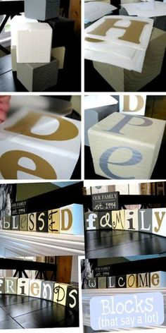 Wood Blocks Craft! This tutorial shows you how you can make so many words using only 7 blocks