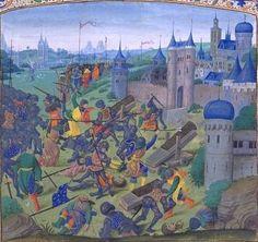 """""""Batalha de Nicópolis"""". (em 1398). Considerada como a """"Última Cruzada"""", de larga escala, na Idade Média."""