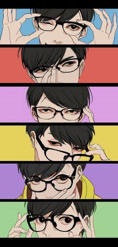 Hot Anime What the- : Photo - Anime Guys With Glasses, Hot Anime Guys, Anime Cosplay, Megane 3, Manga Anime, Anime Art, Kevedd, Osomatsu San Doujinshi, Gekkan Shoujo Nozaki Kun