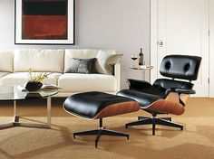 Eames® Leather Lounge Chair & Ottoman - Recliners & Lounge Chairs - Living - Room & Board