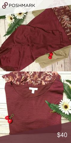 🍒LC Lauren Conrad 🍒Burgundy top Brand New with tags. More details to follow. LC Lauren Conrad Tops Blouses