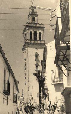 foto de los años 60's de Lebrija, en Semana Santa