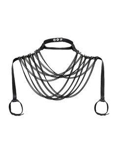 JAKIMAC Blair Leder Schulter Kette / ein Oberkörper von JAKIMACSHOP