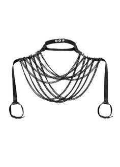 Upper Body Chain Drapes over the Shoulders with от JAKIMACSHOP