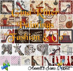 """Sims 4 CC's - The Best: Gina Ritter Paintings """"Fashion & Co"""" by Annett85"""