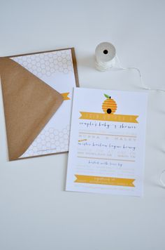 a honey themed baby shower invitation  |  m.press cards