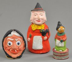 LOT OF THREE WITCH CANDY CONTAINERS : Lot 2110