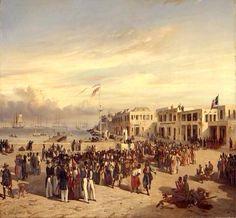 Prince de Joinville assiste à une fête indigéne sur la Place du Gouvernement à Gorée, 1842