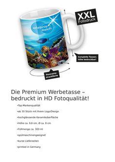 Premium Werbetassen in HD Fotoqualität ab 30 Stück