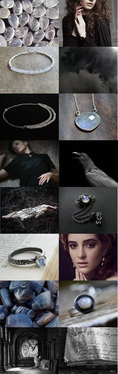 moonstone   darkness by Jooni Jewelry on Etsy--Pinned with TreasuryPin.com