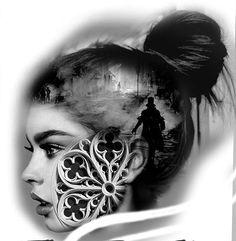 Rose Tattoo On Arm, Full Arm Tattoos, Sleeve Tattoos, Chicano, Neo Tattoo, Dark Tattoo, Tatuajes Tattoos, Bild Tattoos, Creative Tattoos