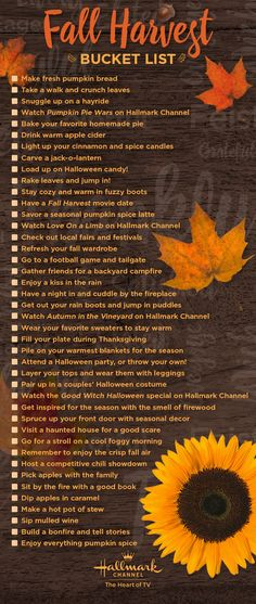 Celebrate the fall season with Hallmark Channel! Get the full list of fall bucket list activities, the perfect idea for making the most of autumn with your family and friends.