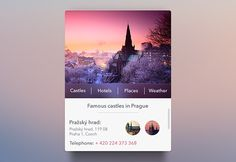 Here is a nice travel widget created with some blur effects and drop shadows. Free PSD designed byAlexander Zaytsev.