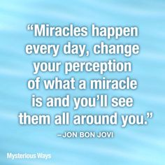 New Year's Resolution... pay attention to miracles all around us!