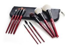BH Cosmetics 10 Piece Brush Set Natural Red ** Find out more details by clicking the image : All Natural Makeup